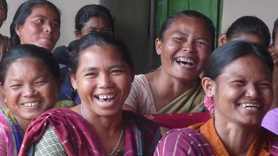 A group of CORR's indigenous women producers from the Mandi tribes