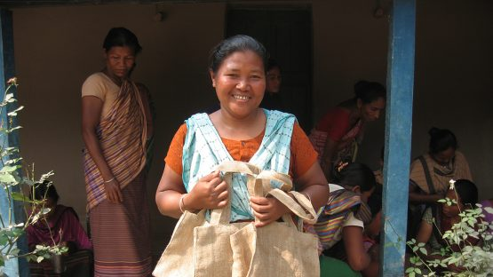 Pimola Nokrek - one of the jute bag artisans