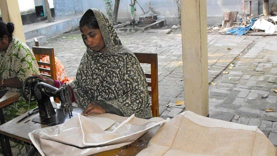 Sultana Purween, a sewing artisan with Saidpur