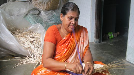 Helena Sharker, a basket artisan