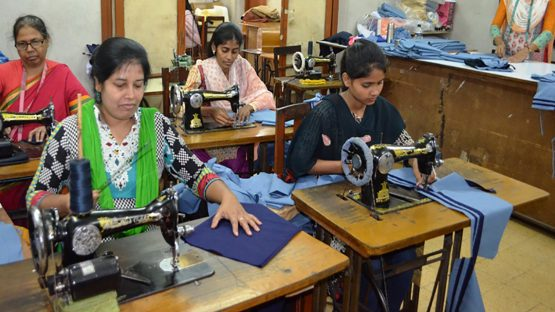 Producers making school uniforms