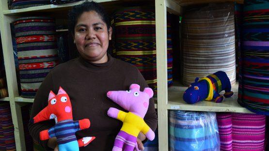 Mayra Aquino, UPAVIM's designer and product developer