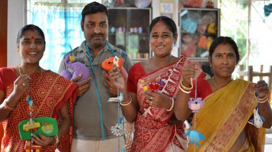 Sujata, Tapash, Anima and Namita - Sasha artisans