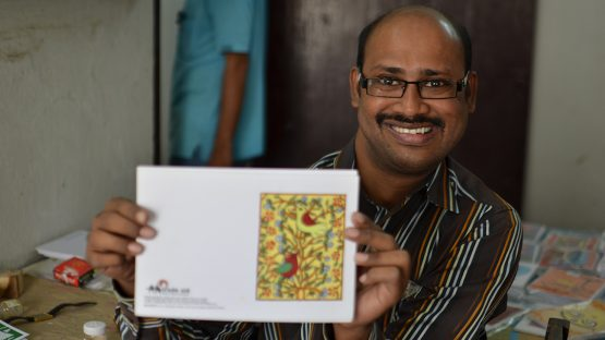 Sandipan, a painter who designs stunning cards
