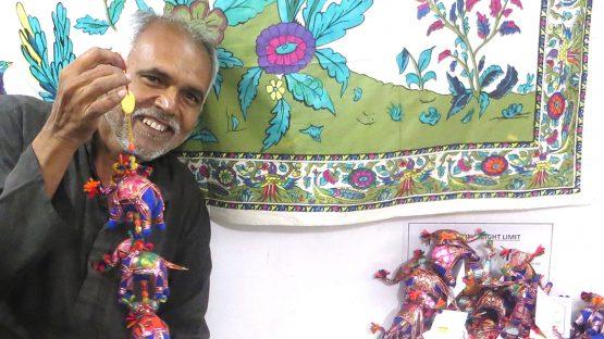 Ganpat, a soft toy and puppet artisan