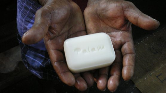 A finished bar of soap