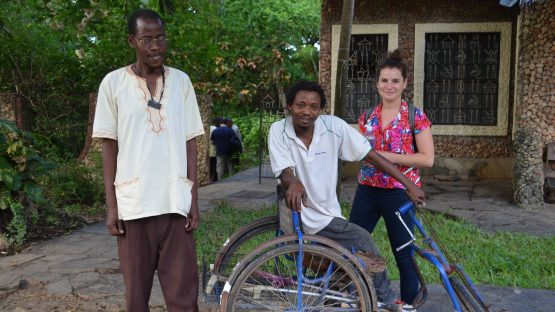 Ali and Pedro with Rosa, Trade Aid's product developer