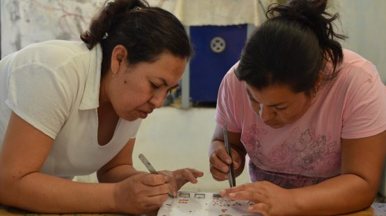 Magdelana and Guillermina creating new jewellery