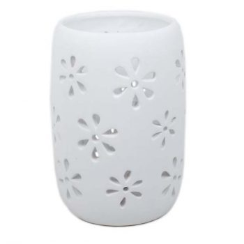 Tealight holder with white finish | TradeAid