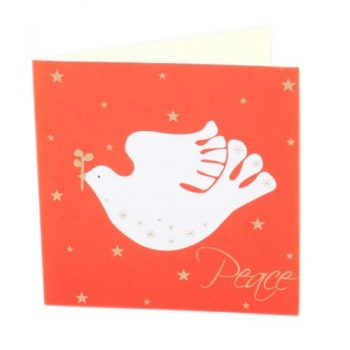 Orange peace bird card | TradeAid