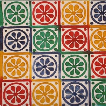 Multi-colour circle print gift wrap   TradeAid