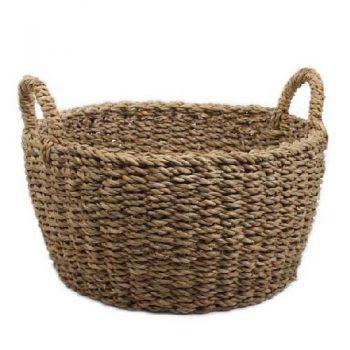 Round hogla basket with handles | TradeAid