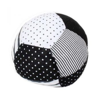 Black and white fabric patchwork ball | TradeAid