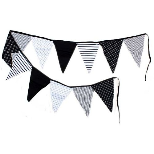 Black and white decorative flags | TradeAid