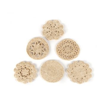 Natural jute coaster set of 6 | TradeAid