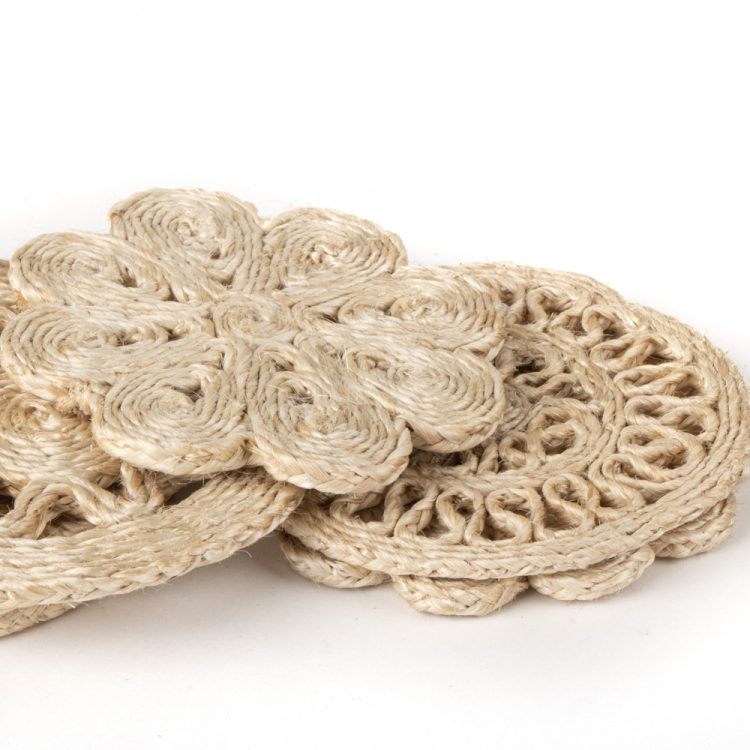 Natural jute coaster set of 6 | Gallery 1 | TradeAid