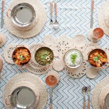 Ornate jute table runner | TradeAid
