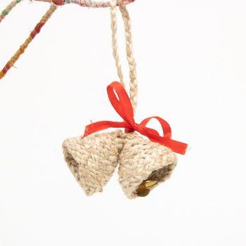 Natural colour braided jute bells | TradeAid
