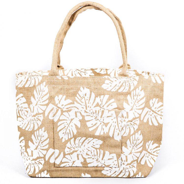 Leaf print tote bag | TradeAid