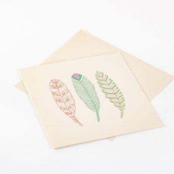 Three feather card   Gallery 2   TradeAid
