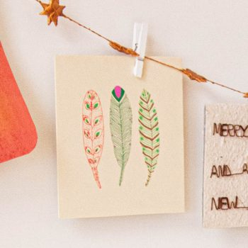 Feather design card | TradeAid
