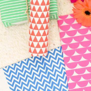 Geometric gift wrap | TradeAid