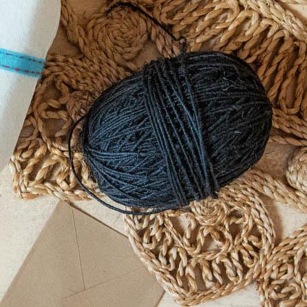 Black organic hemp twine | TradeAid