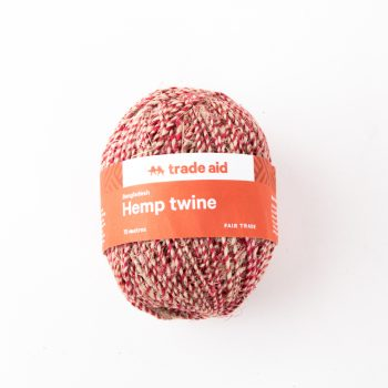 Natural and red organic hemp twine | TradeAid