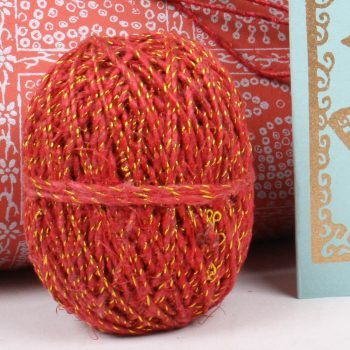 Red and gold hemp twine | TradeAid