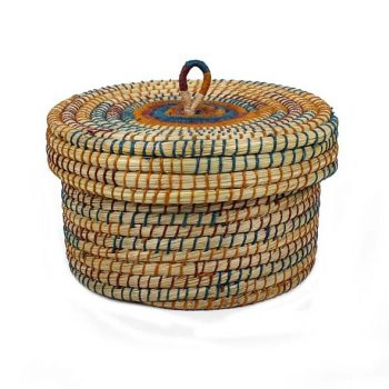 Kaisa and jute lidded storage | TradeAid