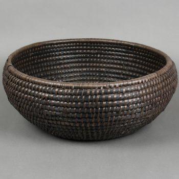 Medium black kaisa dhaka bowl   TradeAid