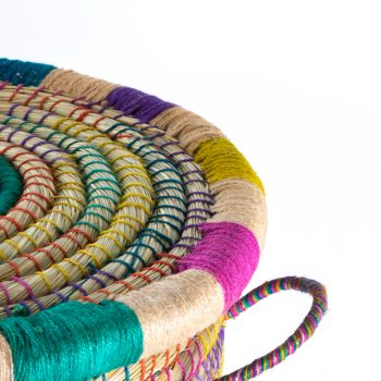 KAISA AND JUTE LIDDED LAUNDRY BASKET - Trade Aid