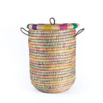 Kaisa and jute lidded laundry basket | TradeAid
