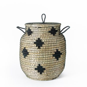 Black diamond design laundry basket | TradeAid