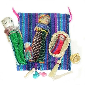 Mayan family in bag | TradeAid