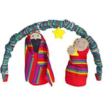 3 piece fabric guatemalan nativity | TradeAid