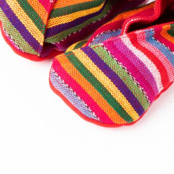 Handwoven striped baby booties | Gallery 1 | TradeAid