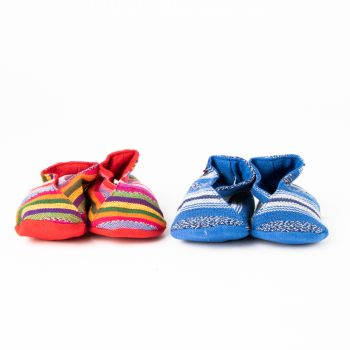 Handwoven striped baby booties | Gallery 2 | TradeAid
