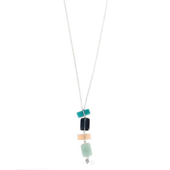 Pastel glass bead pendant necklace | TradeAid