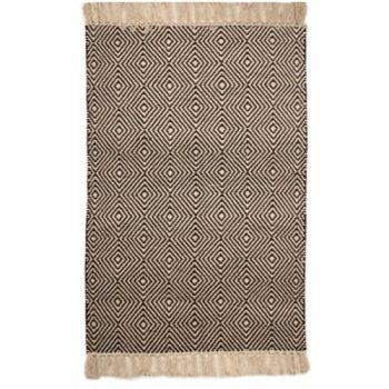 Large black and white rug with diamond design | Gallery 1 | TradeAid