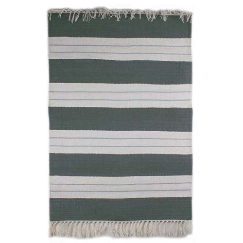 Grey and white cotton rug | TradeAid