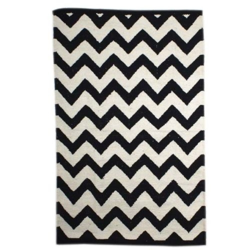 Small black and white zigzag rug | Gallery 1 | TradeAid