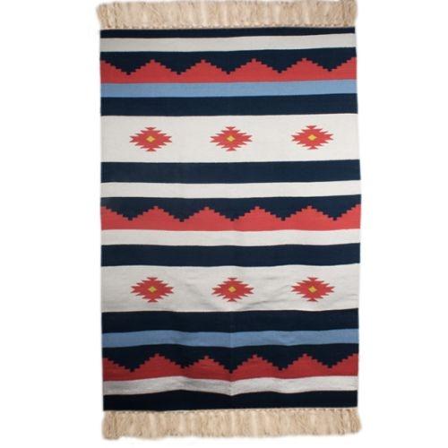 Multicolour geometric cotton rug   TradeAid