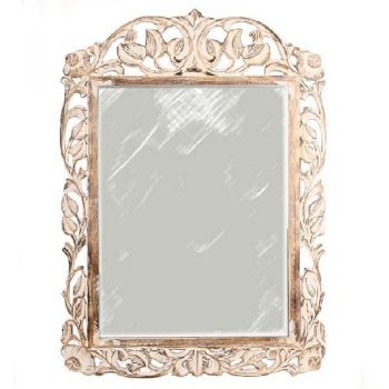 Carved mango wood mirror | TradeAid