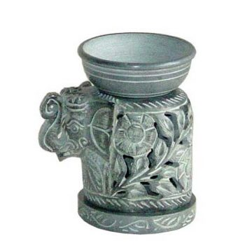 Stone elephant oil burner | TradeAid