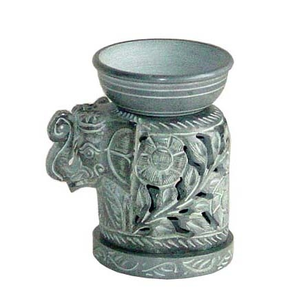 Stone elephant oil burner | TradeAid