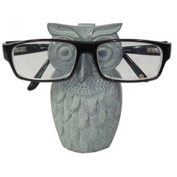 Palewa stone owl design glasses stand | TradeAid