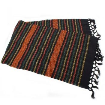 Multicolour striped cotton table runner | TradeAid