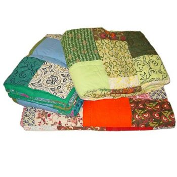 King patchwork quilt. assorted colours | TradeAid