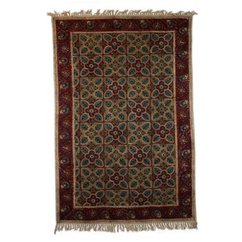 Medium geometric floral rug | TradeAid